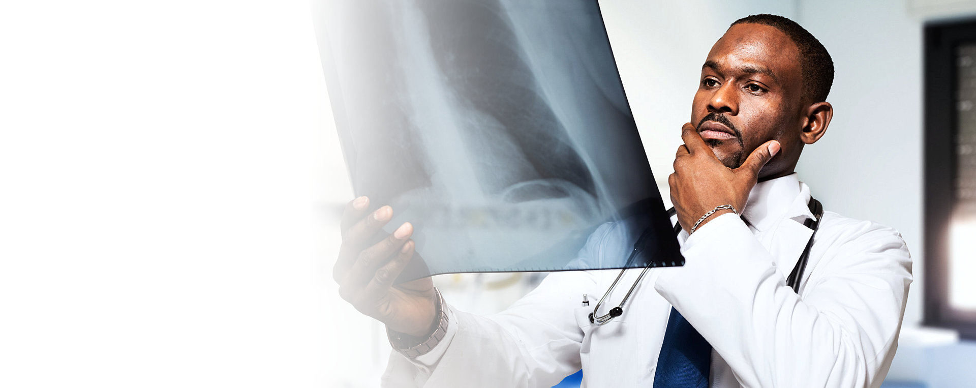 doctor looking on x-ray result