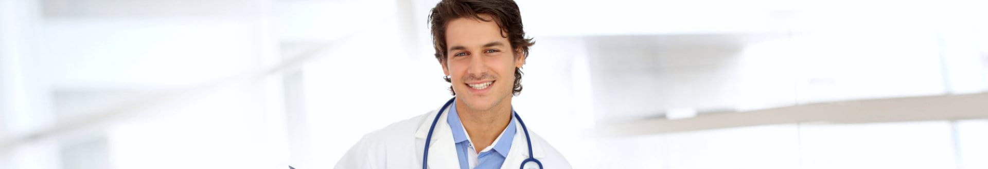 male doctor smiling